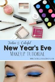blues new years eve makeup tutorial