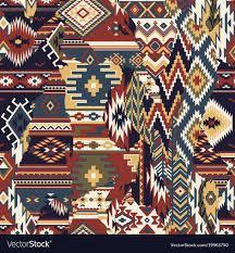 fabric patchwork wallpaper vector image