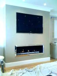 wall mounted fireplace and tv ideas