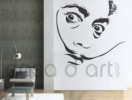 Vinyl Silhouette Wall Decal Salvador Dali Sticker For Homewares On Luulla