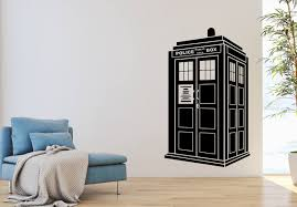 Vinyl Wall Decal Police Box Dr Who Wall Decor Telephone Booth Etsy