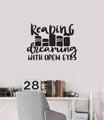 Vinyl Wall Decal Reading Quote Read Book Shop Library Decoration Art S Wallstickers4you