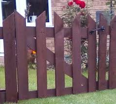Wooden Gate Picket Fence Fence Gate Garden Pond Hedge Security Recycled Ebay