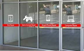 Cell Phone Tablet Laptop Game Console Repair Decal Sticker Window Lettering Ebay