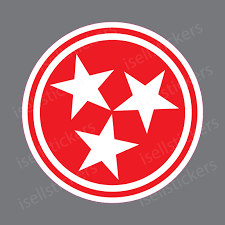Tn Tennessee Volunteers Tristar Tri Star Bumper Sticker Window Decal