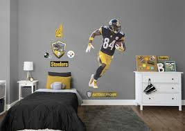 Boys Football Bedroom Nfl Antonio Brown From The Pittsburg Steelers Get Your Favorite Diy Bedroom Decor For Teens Boys Bedroom Colors Cool Bedrooms For Boys