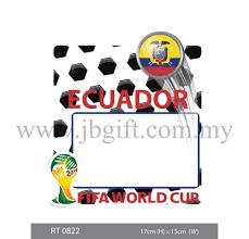Rt 0822 Car Decal Road Tax Sticker Fifa Ecuador 17cm X 15cm Car Decal Road Tax