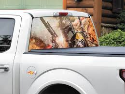 Product Boba Fett Bounty Hunter Explosion Gun Star Wars Rear Window Decal Sticker Pick Up Truck Suv Car Any Size