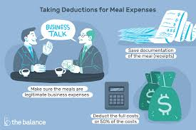 how to deduct business meals but not