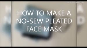 How to make an easy, no-sew face mask ...