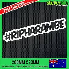 Harambe Gorilla Meme Sticker Decal Car Laptop Cute