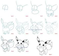 How To Draw Eevee Pokemon Klasthema Pokemon Lippen Tekenen