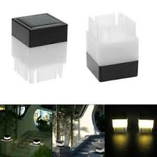 Solar Post Lights Outdoor Pool Post Cap Led Square Light For Fence Deck Decor Ebay
