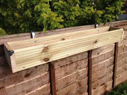 Over The Fence Panel Hanging Balcony Wooden Planter Window Box Decking Trough Ebay