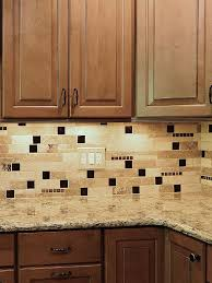 glass travertine mix backsplash tile
