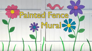 Painted Fence Mural White Vinyl Fence With Flowers Youtube