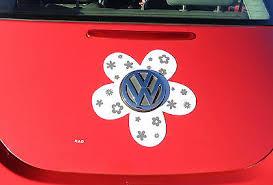 Vw Beetle Flower Magnetic Decal Gray Flowers Ebay