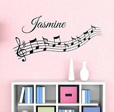 Music Notes Custom Name Wall Decal Kids Room Decor Nursery Wall Decals Music Note Decals Musical No Music Wall Decal Kids Room Wall Decals Nursery Wall Decals