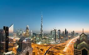 تحميل خلفيات برج خليفة 4k غروب الشمس المباني الحديثة الإمارات