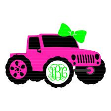 Jeep Monogram Svg Jeep Girl Svg File Jeep Svgs Jeep With Bow Jeep With Bow Svg Svg Jeep Jeeps Svg Cricut Designs Silhouette Designs Svg For Cricut