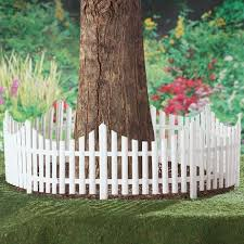 Flexible White Picket Fence Garden Border 4pcs Collections Etc