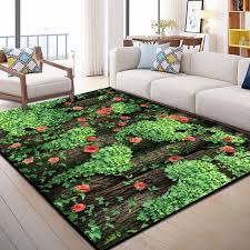 Green 3d Printing Garden Flower Hallway Carpets For Living Room Bedroom Decor Carpet Kids Play Area Rug Children Crawl Floor Mat Carpet Aliexpress