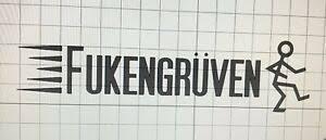 Fukengruven Grateful Dead Phish Vinyl White Car Truck Window Decal Garcia Ebay