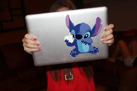 Uploads Cute Laptop Apple Mac Stitch Sticker Myne Cherishingwishes