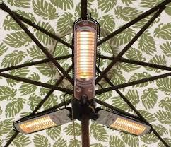 sense umbrella halogen patio heater