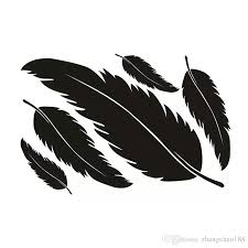 2020 17 11 5cm Beautiful Feathers Decal Vinyl Car Sticker Black Silver Ca 1106 From Zhangchao188 0 34 Dhgate Com