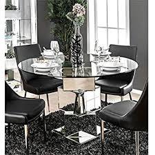 furniture of america dilton glass top