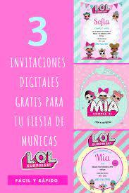 L O L Surprise Invitaciones Digitales Party Pop Invitaciones Digitales Invitaciones Imprimibles Gratis Crear Invitaciones De Cumpleanos