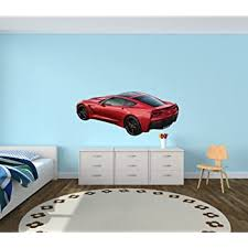 Amazon Com Sports Car Wall Decal Corvette Wall Decals Car Stickers Red Offset Corvette Baby