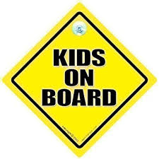 Amazon Com Kids On Board Car Sign Kids On Board Car Sign Bumper Sticker Decal Child On Board Children On Board Grandchildren On Board Baby