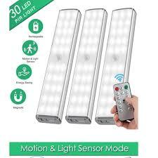 Bộ đèn 30 LED cảm ứng + remote tích hợp pin sạc dùng trang trí tủ trưng bày  , đèn dự phòng , gắn tủ giảm chỉ còn 235,000 đ