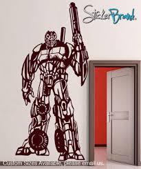 Vinyl Wall Decal Sticker Transformers Style Robot Fighter Gfoster150 Stickerbrand