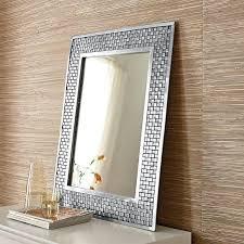soho mosaic silver mirror