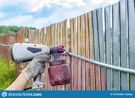 Painting The Metal Fence With A Spray Gun Pneumatic Sprayer Protection Of Metal From Paint Rust Stock Image Image Of Paint Christmas 167393869