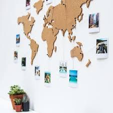 Corkboard Map Wall Art Diy Bedroom Travel Room Decor Diy Wall Art
