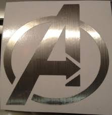 Brushed Metal Avengers Logo Decal Vinyl Car Sticker Free Shipping Ninjajenn Artfire Gallery