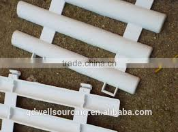 white fence plastic fence garden