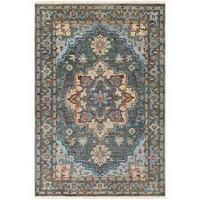 bright blue area rug