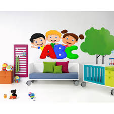 Shop Full Color Abc Children Sticker Abc Children Decal Wall Art Decal Sticker Decal Size 33x45 Overstock 13903097