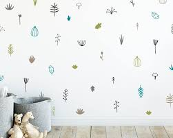 Woodland Wall Decals Nursery Decals 5 Color Wall Stickers Etsy