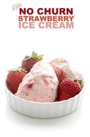 easy keto strawberry ice cream all