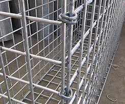 Welded Gabion Baskets Are Joined By Hog Rings Gabion Baskets Gabion Wall Fence