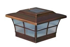 Copper Prestige Solar Post Cap For 6x6 Posts