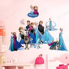 Frozen Queen Elsa Anna Princess Girls Art Wall Stickers Decals Room Decor Mural Sticker Mural Stickers From Gonglangdianzi01 6 03 Dhgate Com