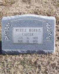 CARTER, MYRTLE - Stone County, Arkansas   MYRTLE CARTER - Arkansas  Gravestone Photos