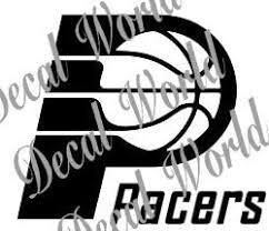 Amazon Com Indiana Pacers Logo Nba White Decal Vinyl Sticker Automotive